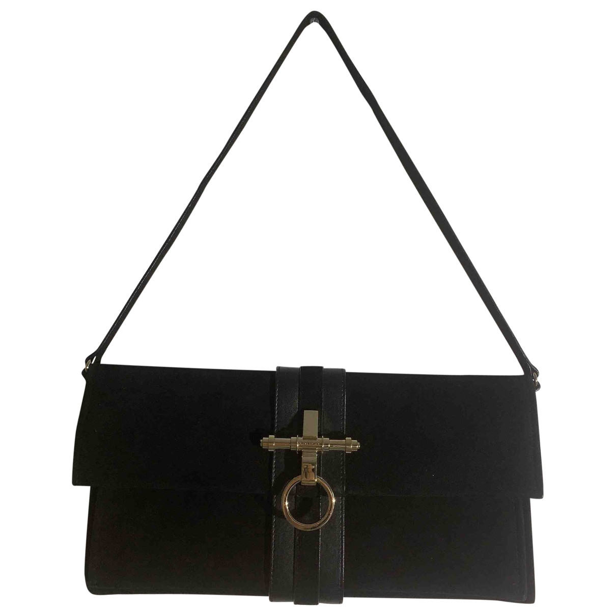 Givenchy Obsedia Clutch in  Schwarz Veloursleder