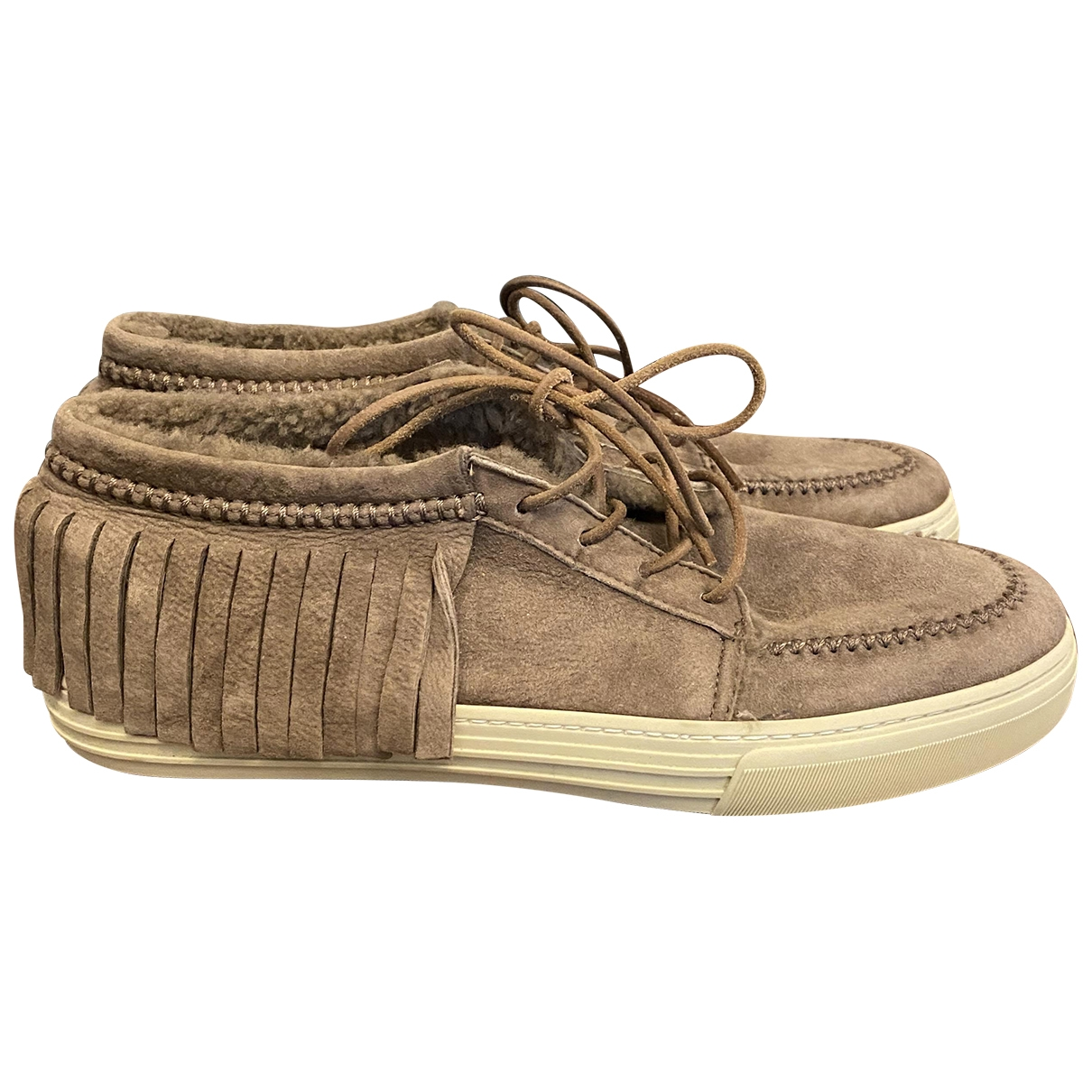 Gucci \N Brown Suede Trainers for Men 8.5 UK