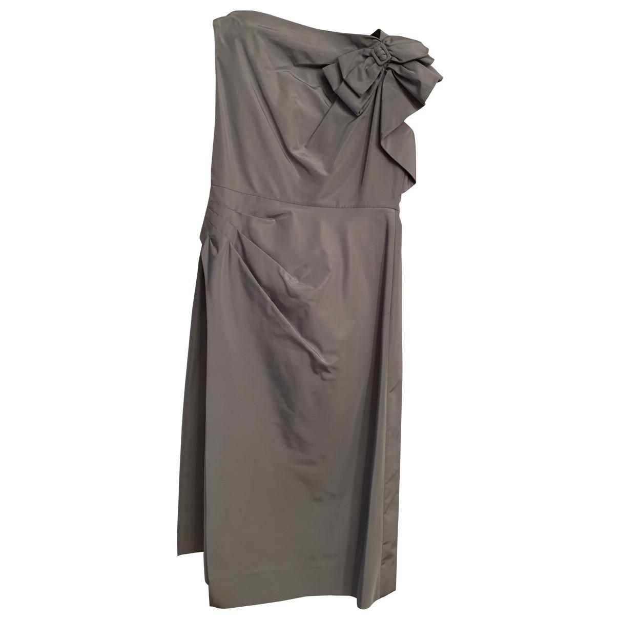 Prada \N Kleid in  Tuerkis Seide