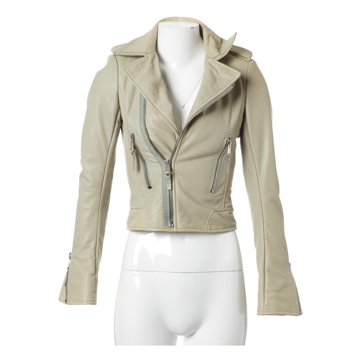 Balenciaga - Veste   pour femme en cuir - beige