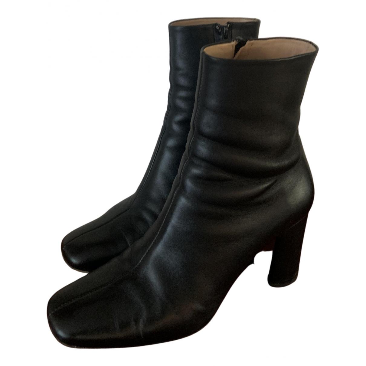 Rouje - Bottes Celeste pour femme en cuir - noir
