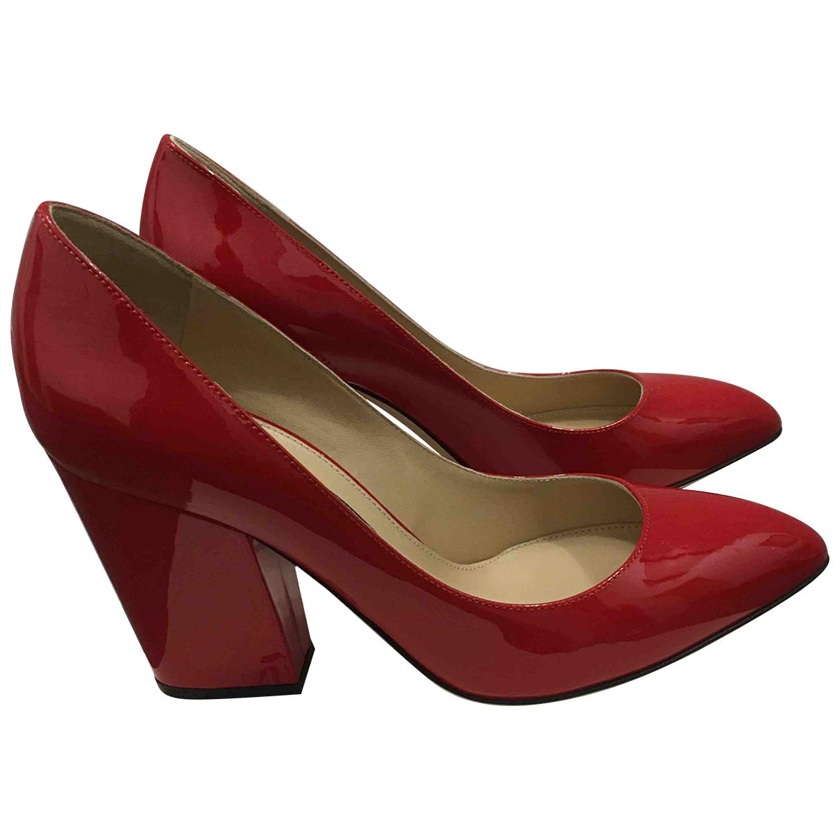 Sergio Rossi - Escarpins   pour femme en cuir - rouge