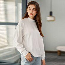 Einfarbig Laessig T-Shirts