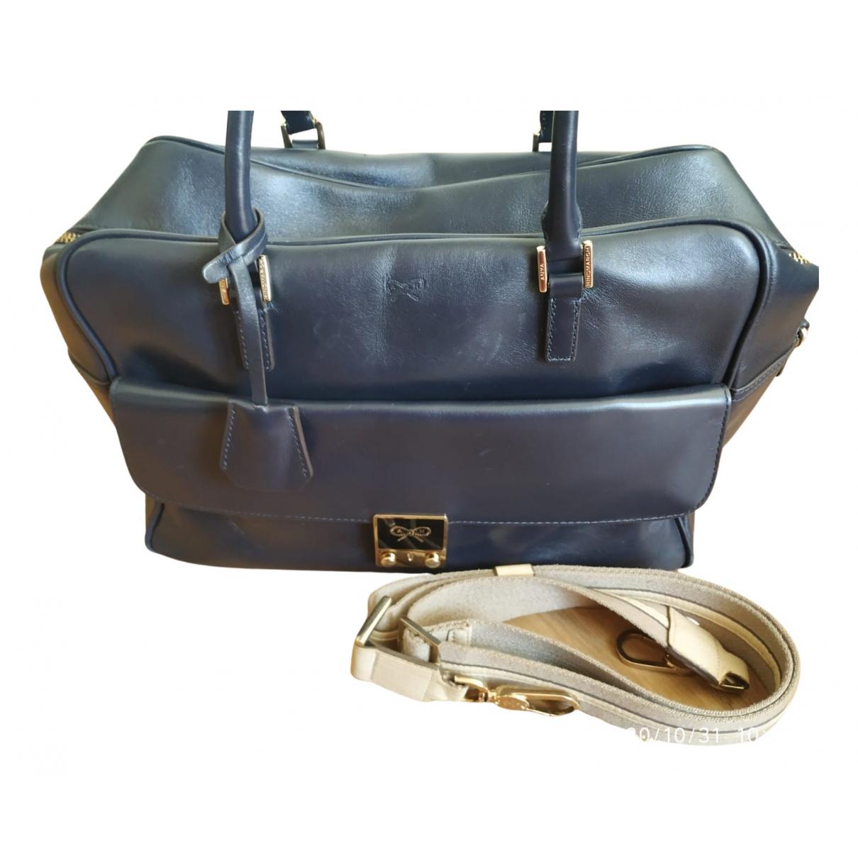 Anya Hindmarch Pimlico Blue Leather handbag for Women N
