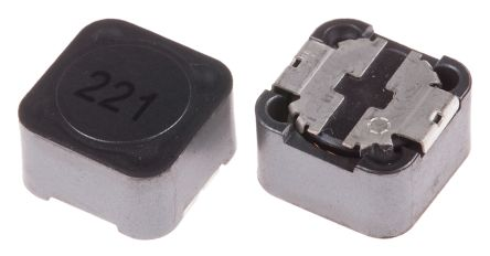 RS PRO , 27 Shielded Wire-wound SMD Inductor 220 μH ±20% Wire-Wound 1.16A Idc (5)
