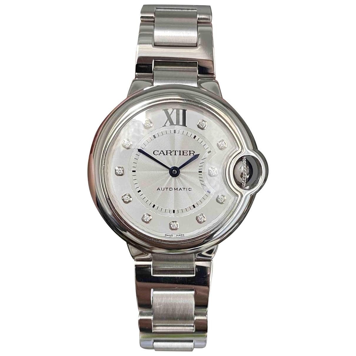 Cartier Ballon bleu Uhr in  Silber Stahl