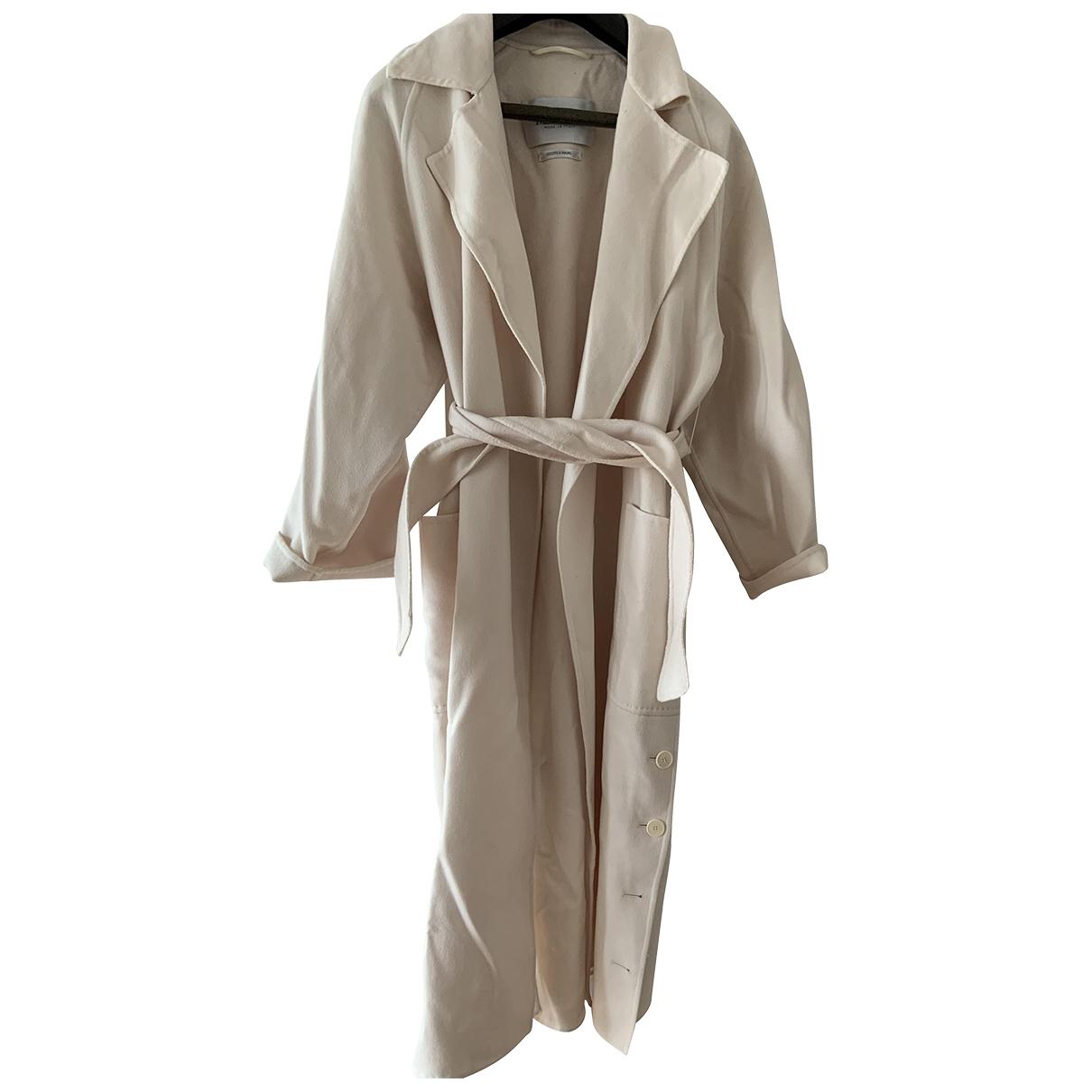 Max Mara \N White Wool coat for Women 38 FR