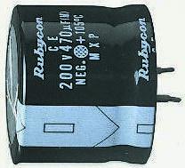 Rubycon 220μF Electrolytic Capacitor 450V dc, Through Hole - 450MXG220MEFCSN35X25