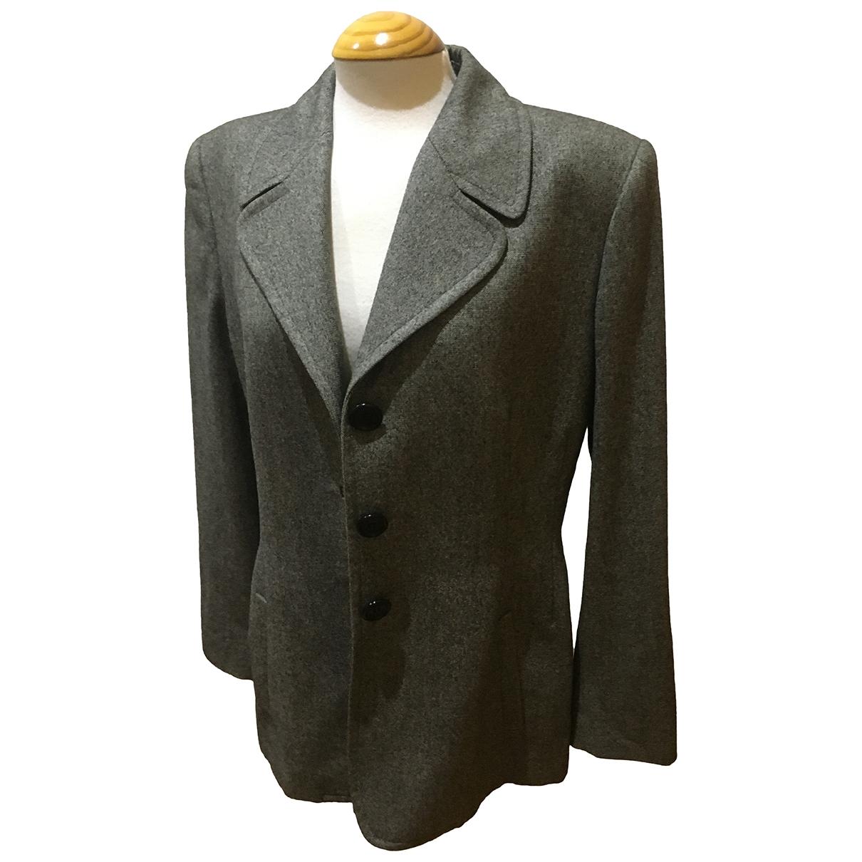 Loewe \N Jacke in  Grau Wolle