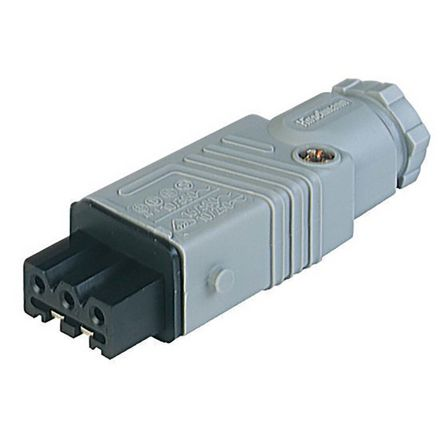 Lumberg Automation , ST IP54 Grey Cable Mount 3P+E Industrial Power Socket, Rated At 10.0A, 230.0 V, 400.0 V (100)