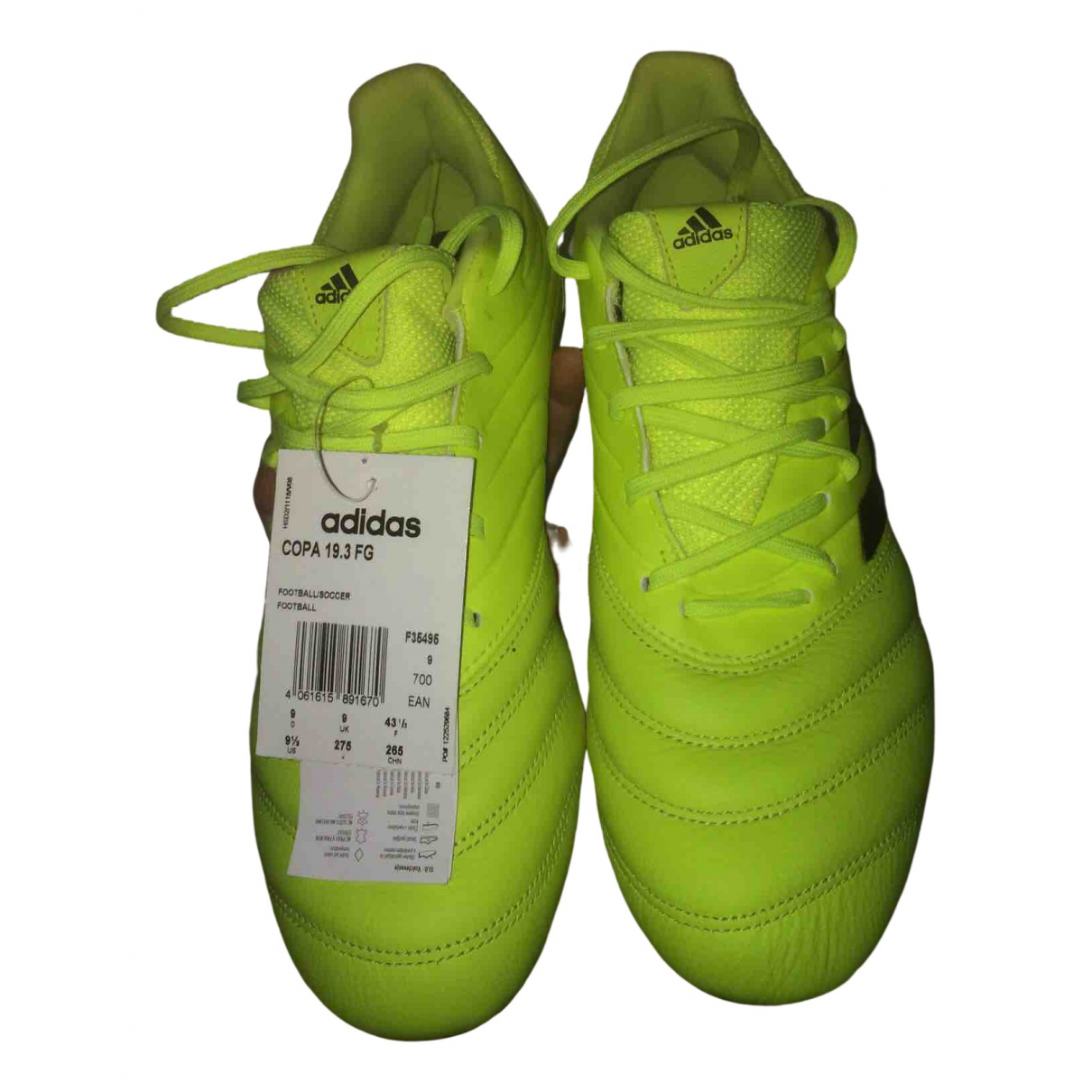 Adidas \N Yellow Cloth Trainers for Men 43.5 EU