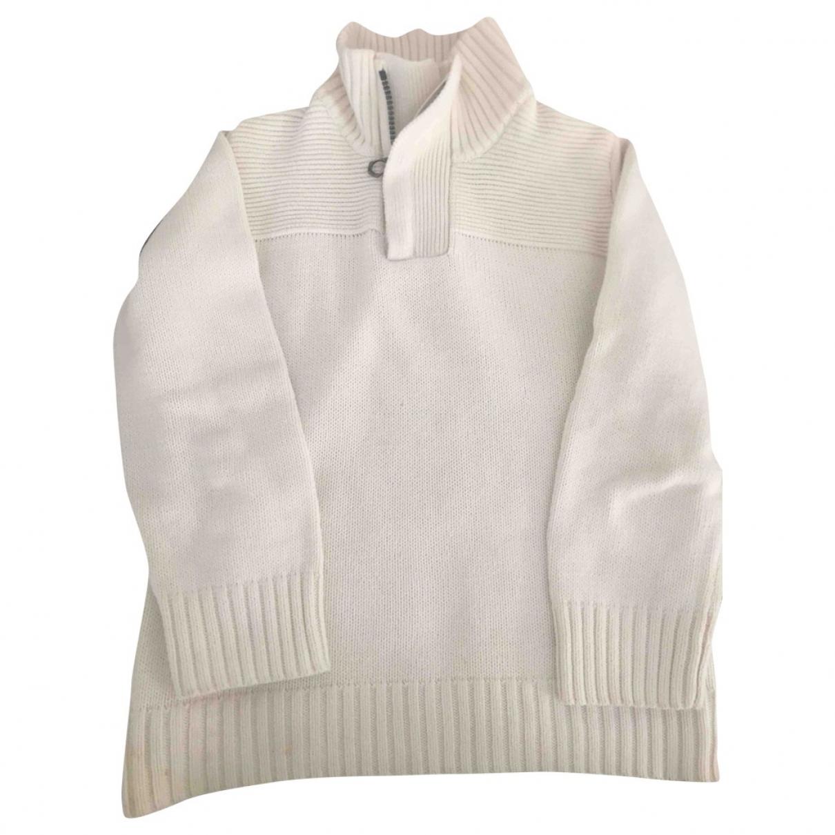 Zara - Pull   pour enfant en coton - blanc