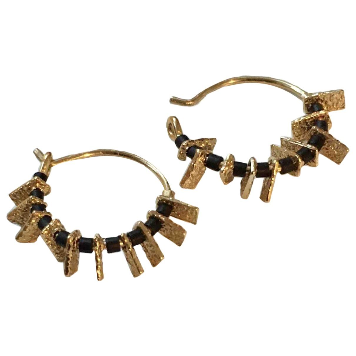 - Boucles d'oreilles   pour femme en metal - dore
