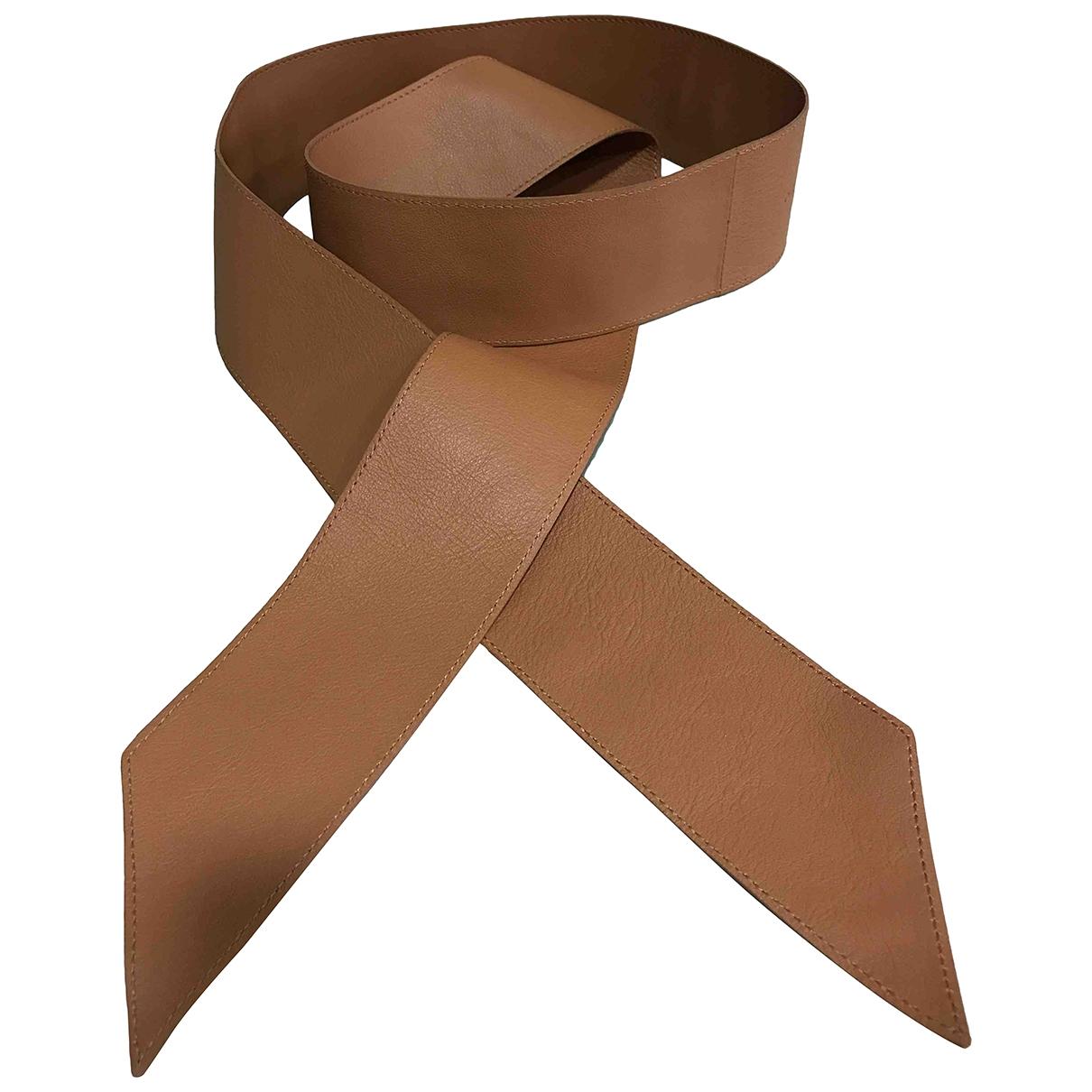Orciani \N Camel Leather belt for Women 80 cm
