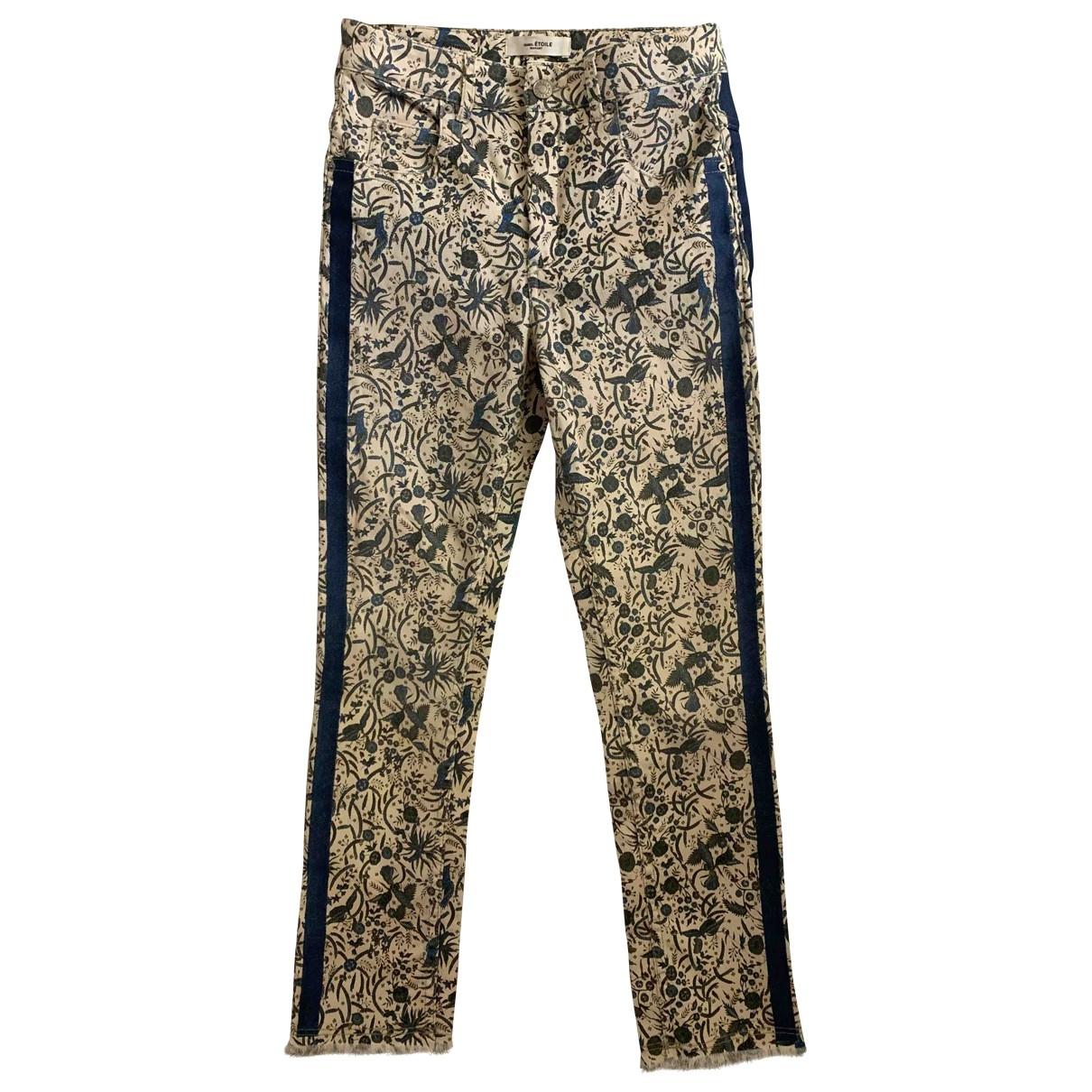 Isabel Marant Etoile \N Multicolour Cotton Trousers for Women 36 FR