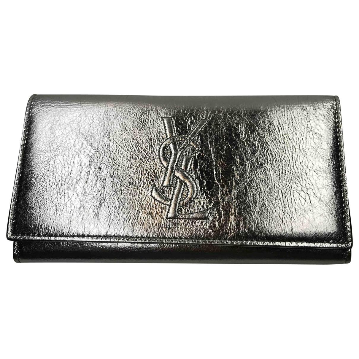Saint Laurent \N Silver Leather wallet for Women \N