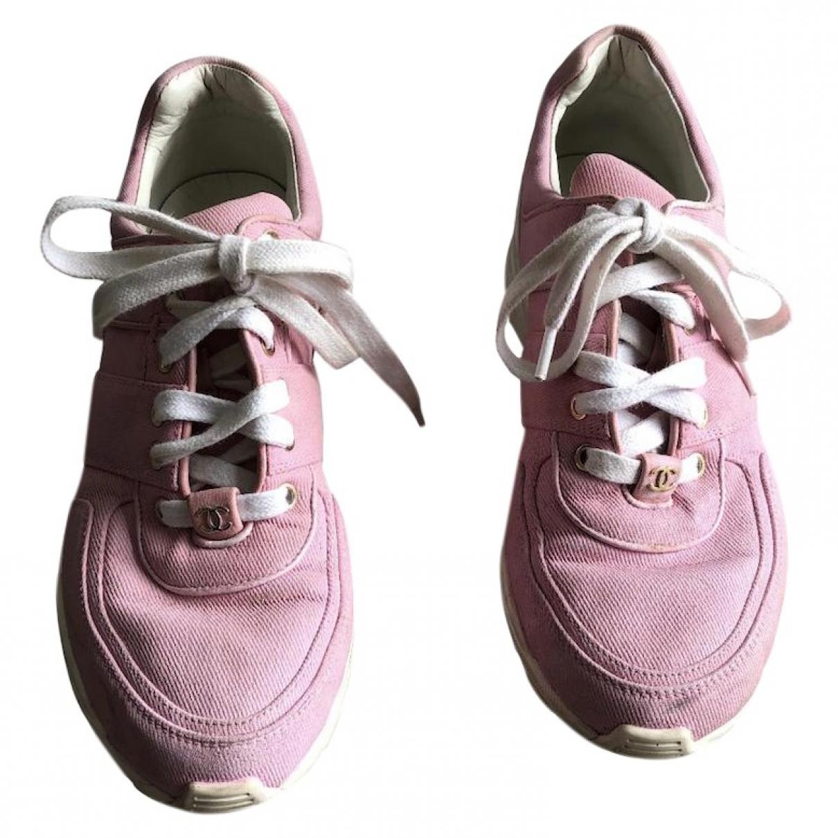 Chanel \N Sneakers in  Rosa Leinen