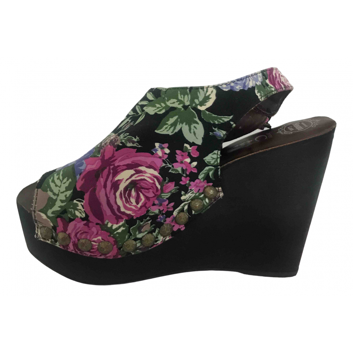 Jeffrey Campbell \N Black Cloth Sandals for Women 39 IT