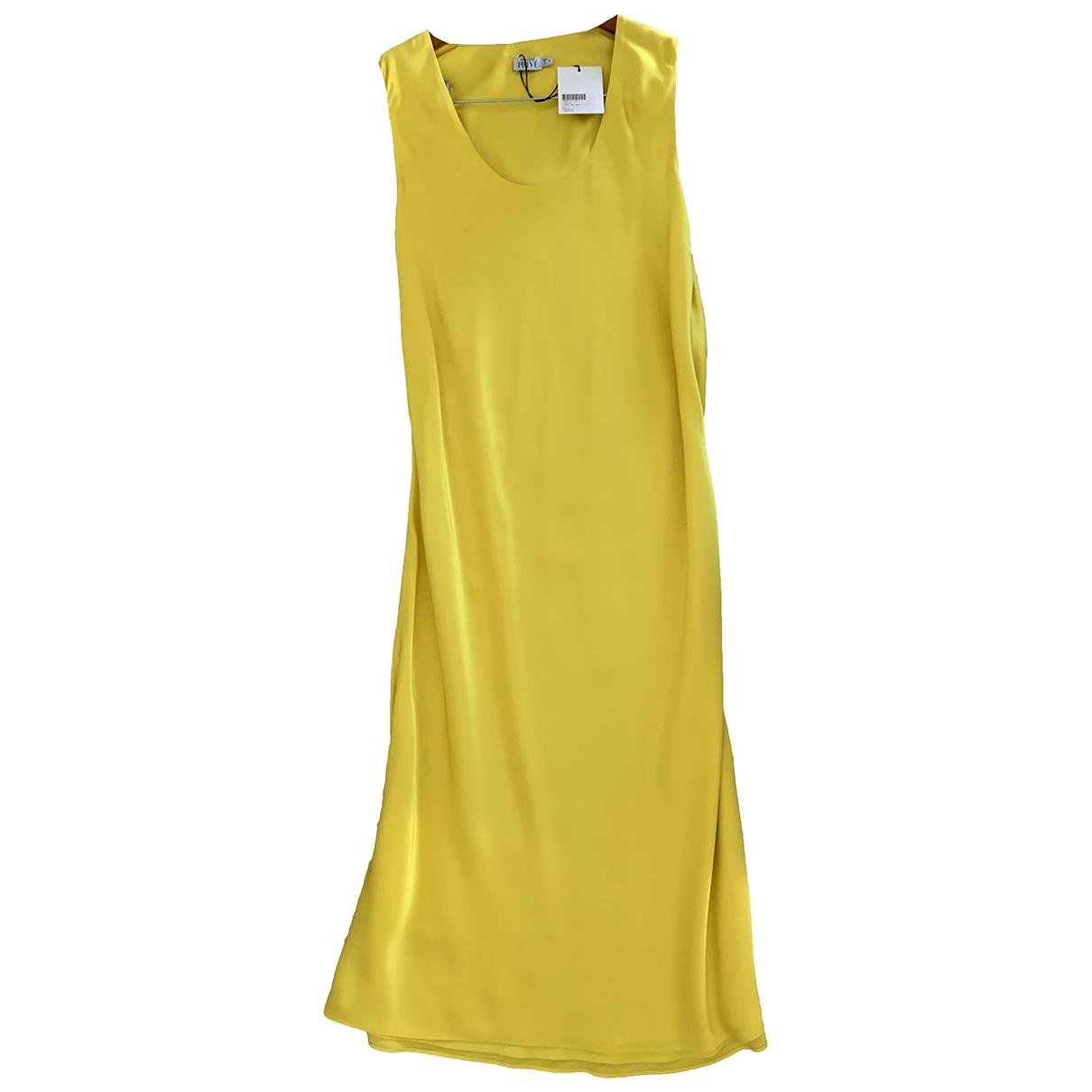 Protagonist \N Kleid in  Gelb Seide