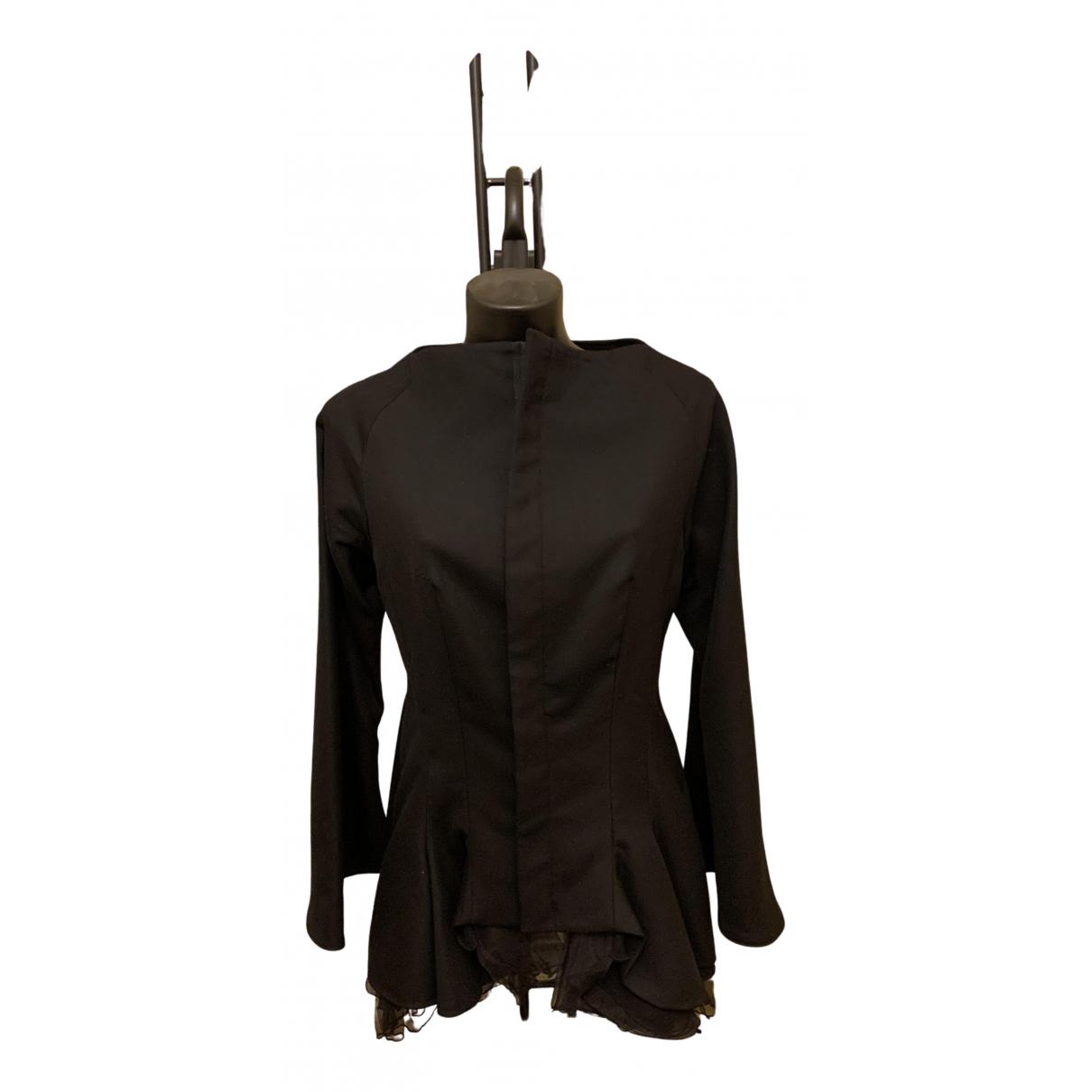 Check 1 N Black Wool jacket for Women 44 IT