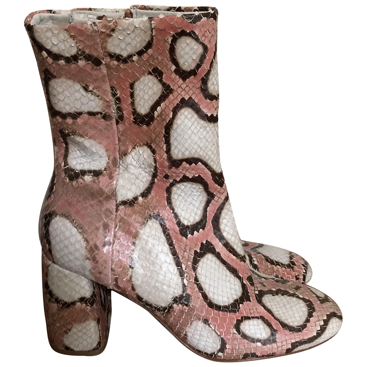Miista - Bottes   pour femme en cuir - multicolore