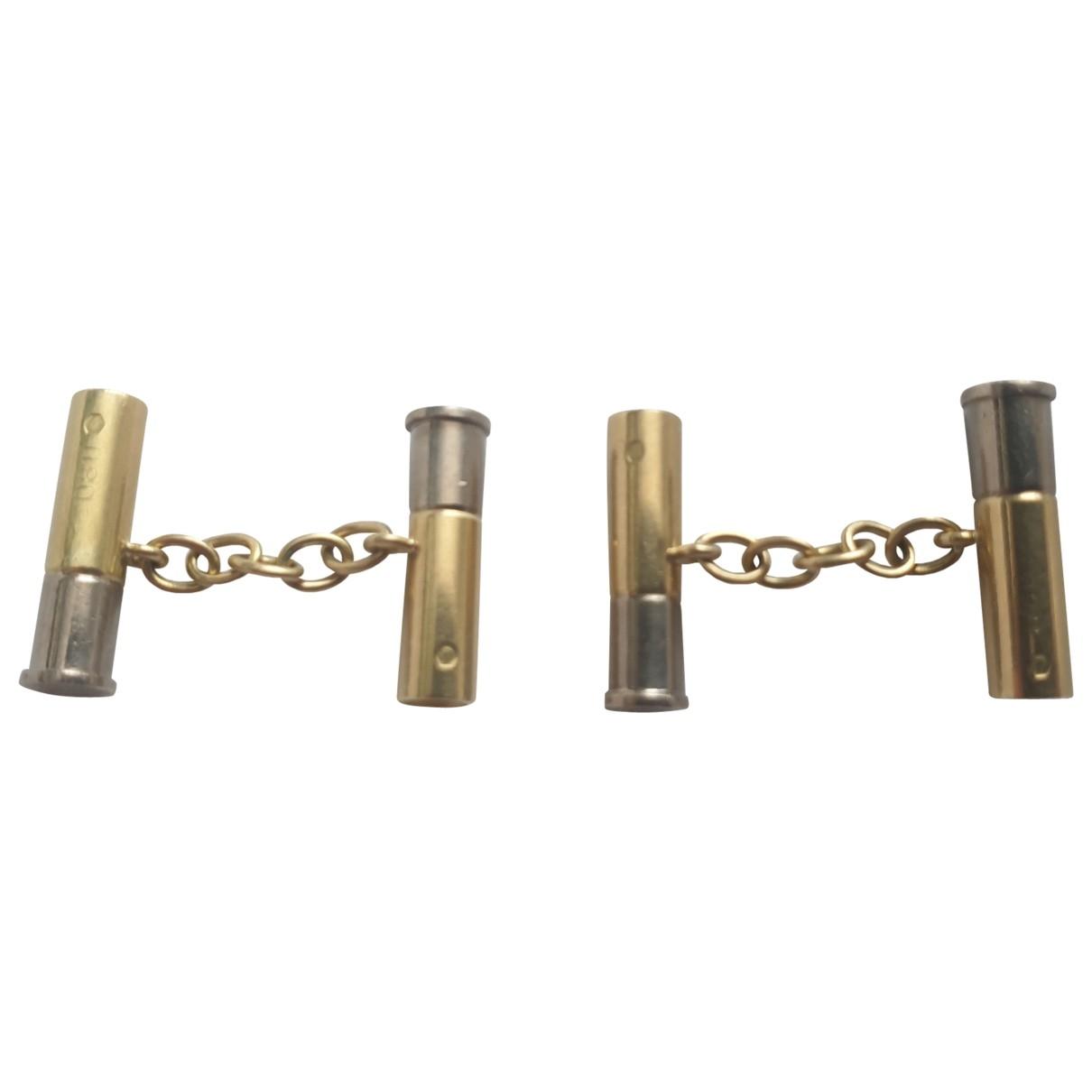 Cartier \N Gold Gold Cufflinks for Men \N