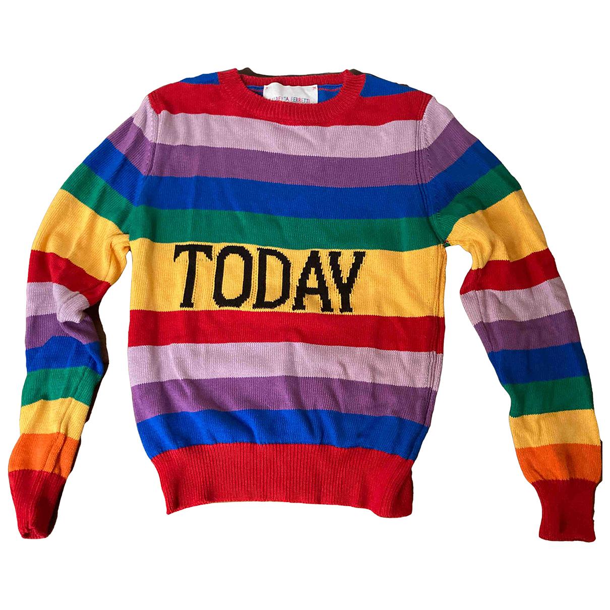 Alberta Ferretti - Pull   pour femme en coton - multicolore