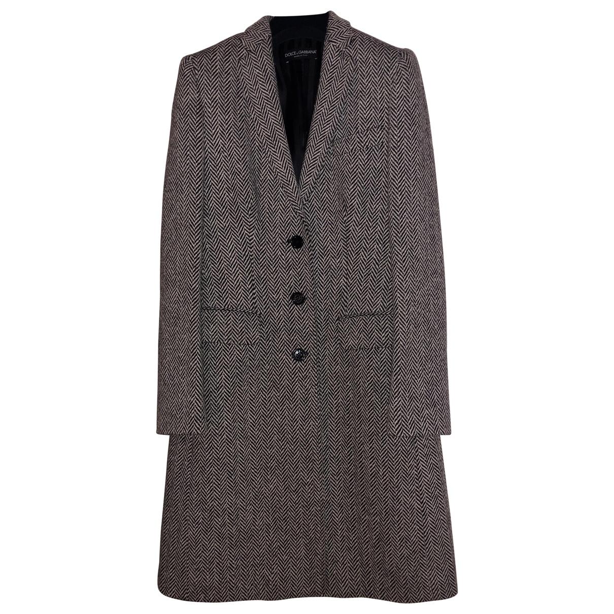 Dolce & Gabbana \N Grey coat for Women 40 IT