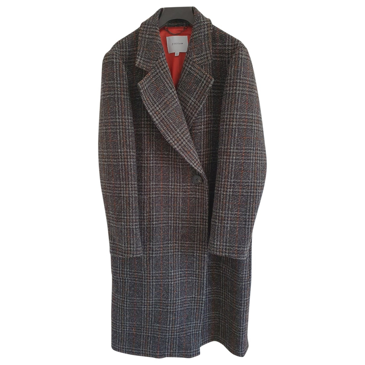 Jigsaw \N Anthracite Wool coat for Women 16 UK