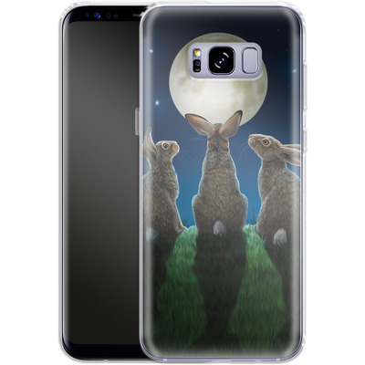 Samsung Galaxy S8 Plus Silikon Handyhuelle - Moonshadows von Lisa Parker