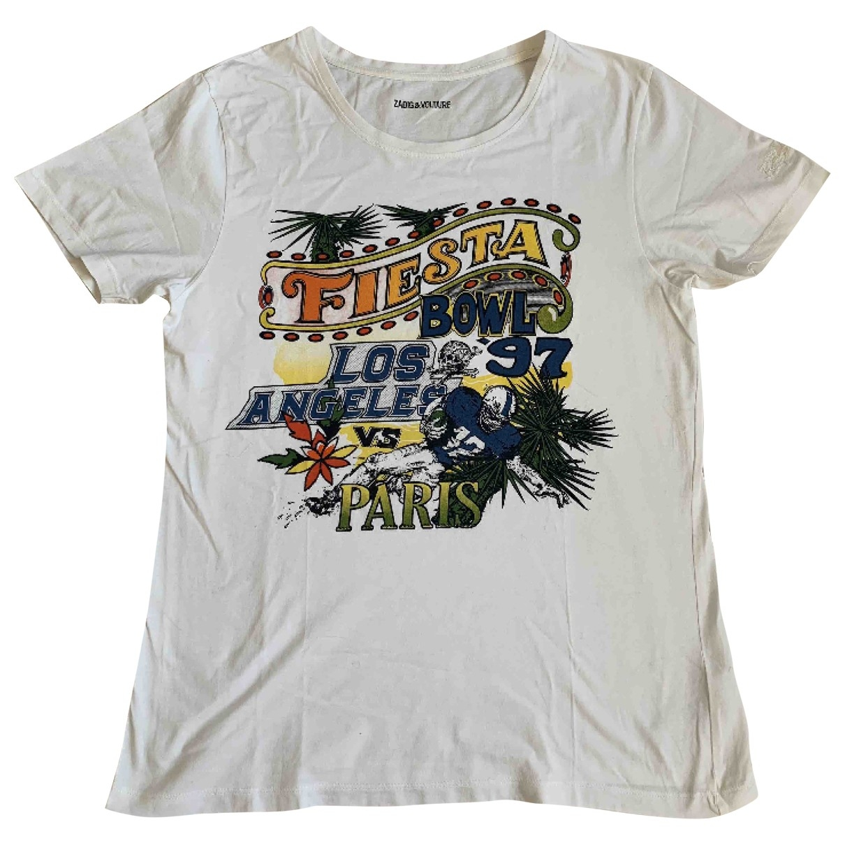 Zadig & Voltaire - Tee shirts   pour homme en coton - blanc