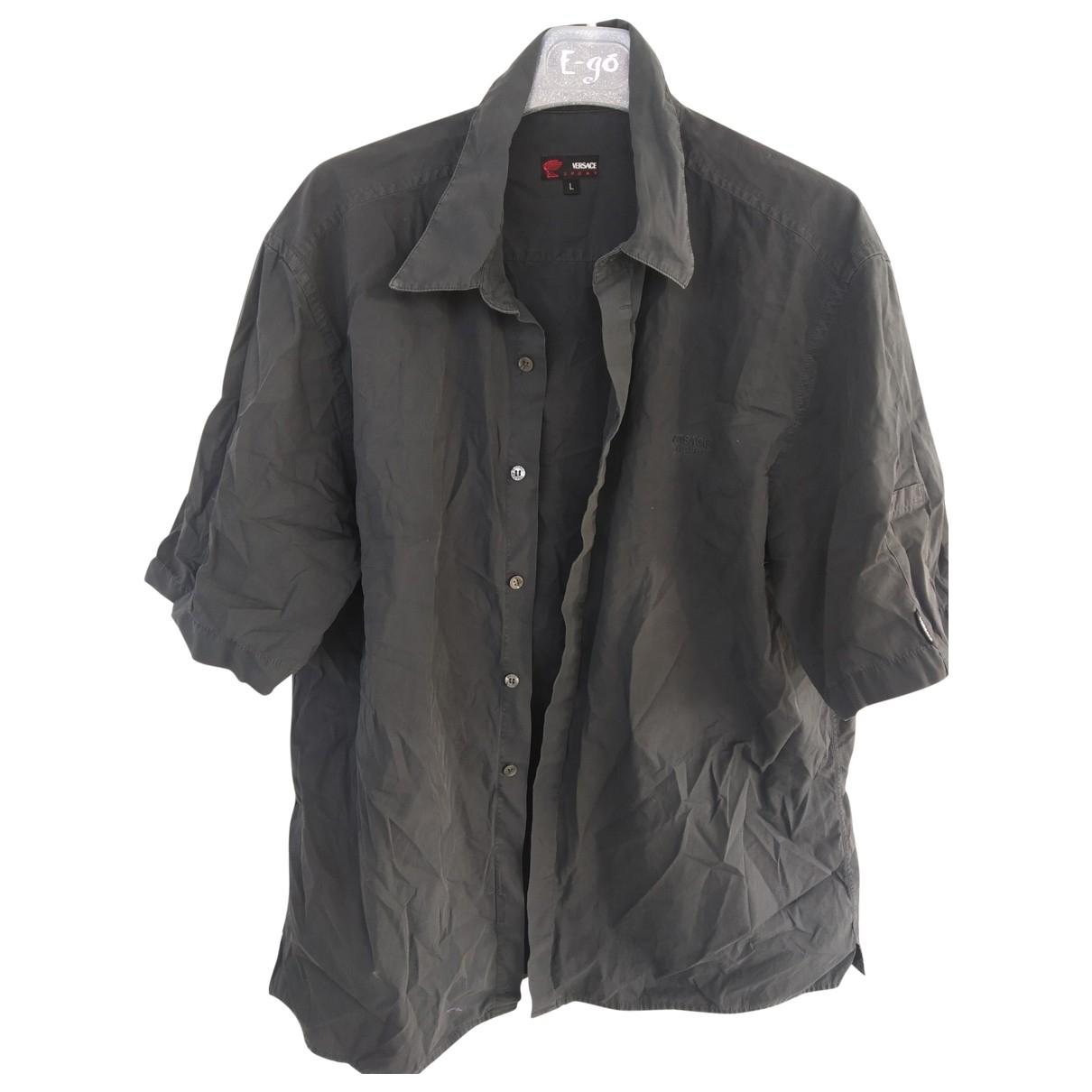 Versace - Chemises   pour homme en coton - anthracite