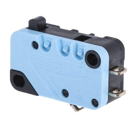 Crouzet NO/NC Plunger Microswitch, 20 A @ 250 V ac
