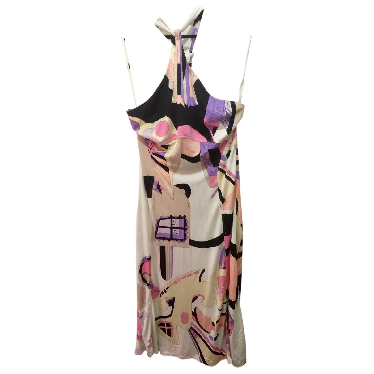 Emilio Pucci - Robe   pour femme en soie - multicolore