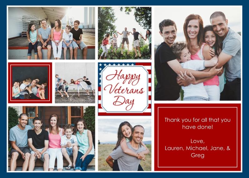 Veteran's Day Cards 5x7 Folded Cards, Premium Cardstock 120lb, Card & Stationery -Happy Veterans Day