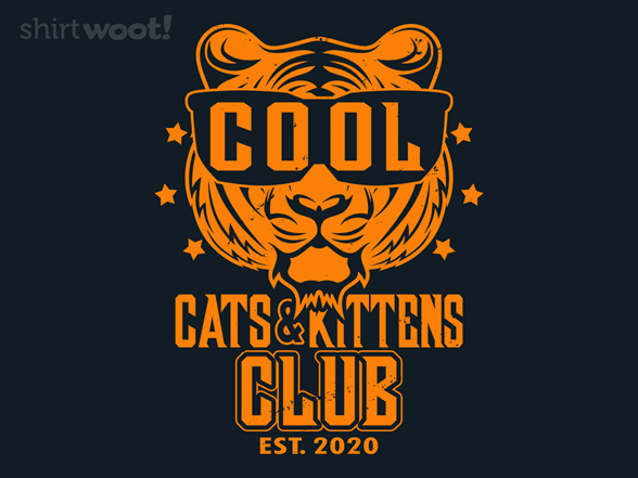 Cool Cats And Kittens Club T Shirt