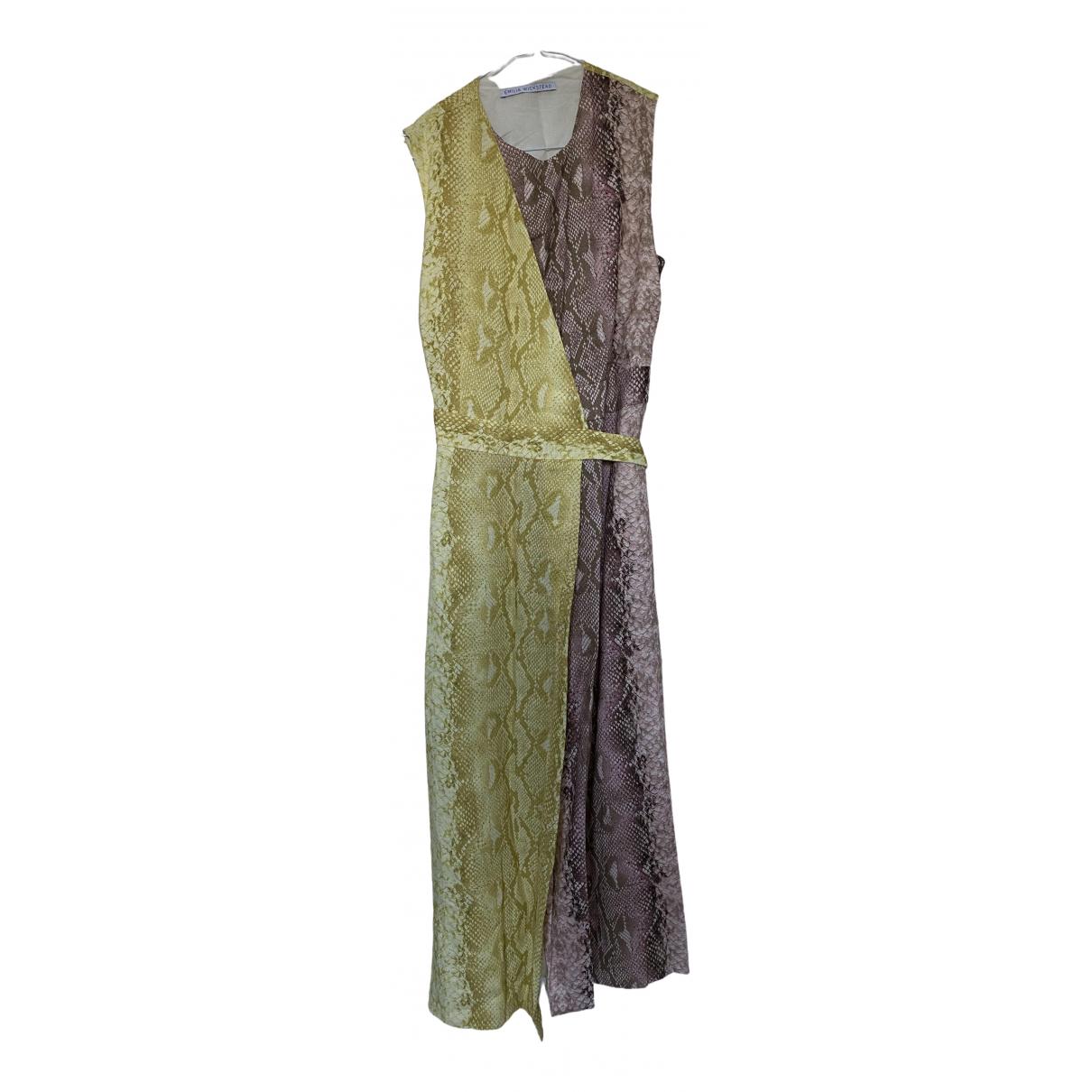 Vestido midi de Lino Emilia Wickstead