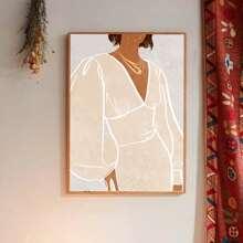 Pintura de pared con estampado de figura sin marco