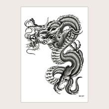 1 hoja pegatina de tatuaje con patron de dragon chino