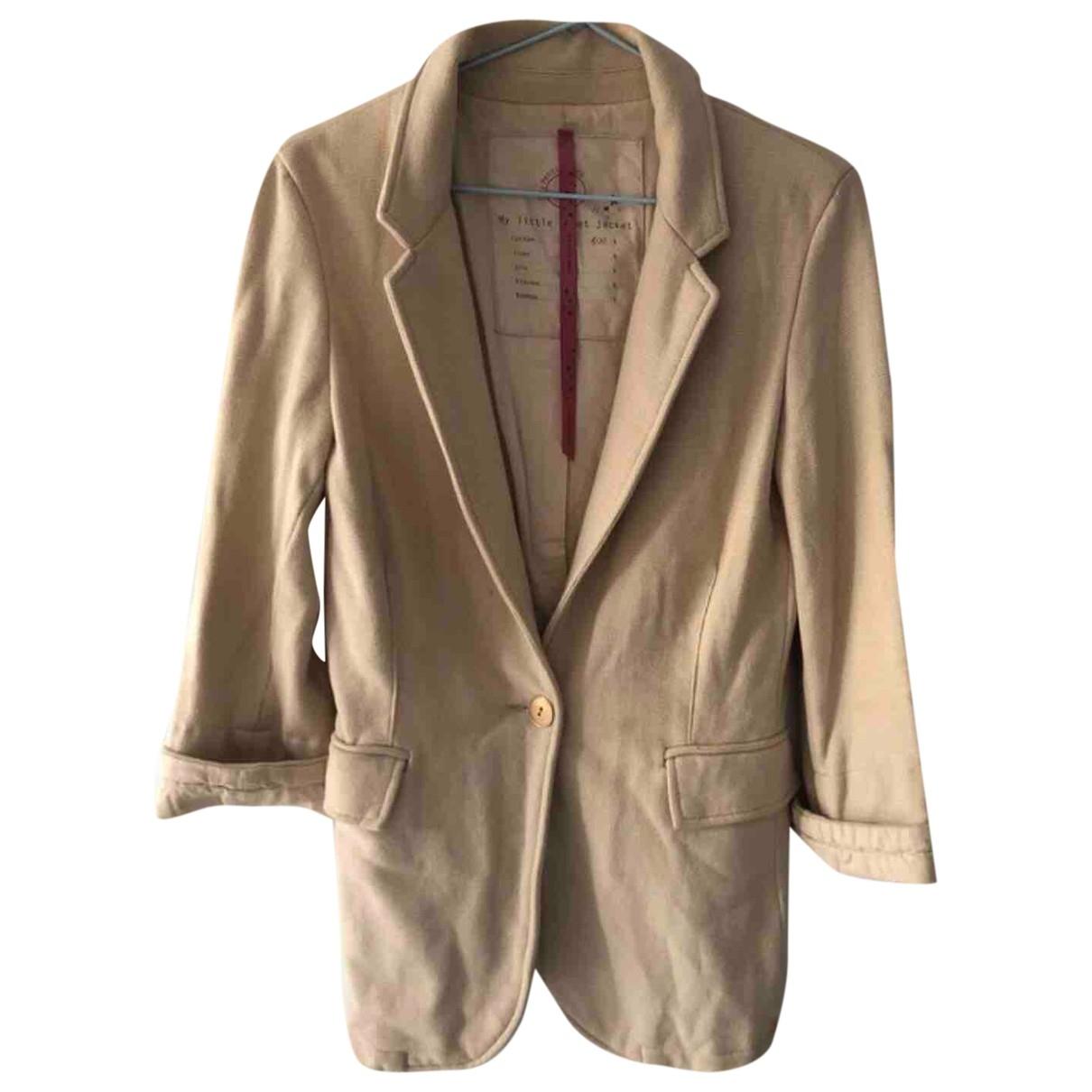 Des Petits Hauts \N Beige Cotton jacket for Women 1 0-5