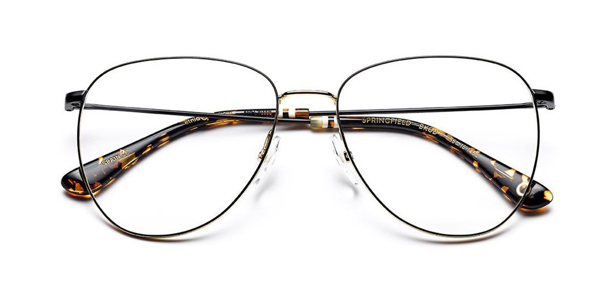 Etnia Barcelona Springfield BKGD Women's Glasses Black Size 56 - Free Lenses - HSA/FSA Insurance - Blue Light Block Available