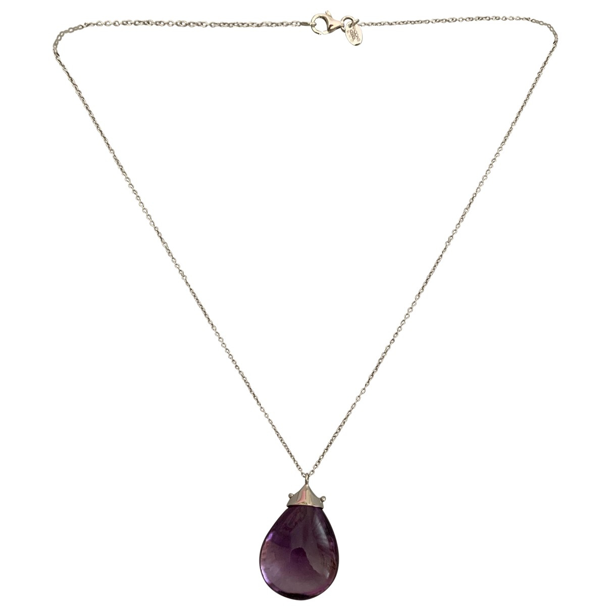 Non Signé / Unsigned \N Purple White gold necklace for Women \N