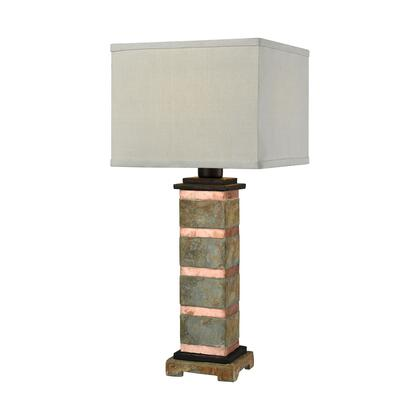 D3976 Controlled Burn Table Lamp  In Natural Slate