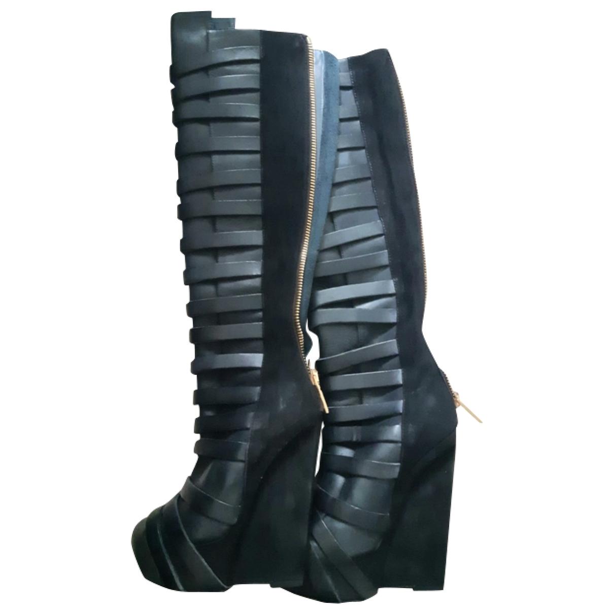 Gareth Pugh - Bottes   pour femme en cuir - noir
