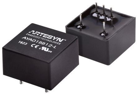 Artesyn Embedded Technologies AYA 3W Isolated DC-DC Converter Through Hole, Voltage in 4.5 ? 10 V dc, Voltage