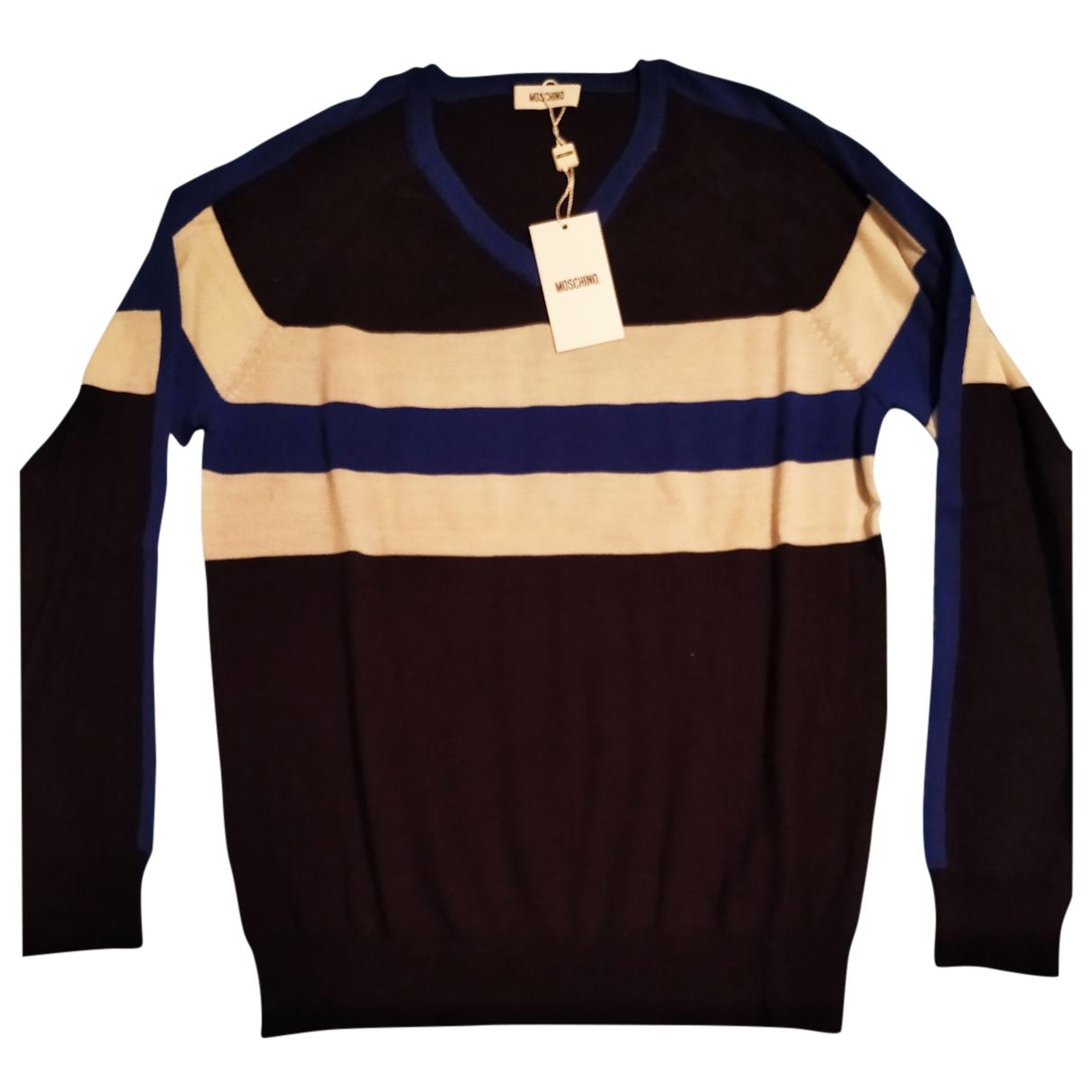 Moschino - Pulls.Gilets.Sweats   pour homme en laine - bleu