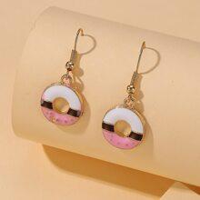 Donut Drop Earrings