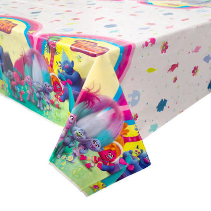 Trolls 1 Plastic Tablecover 54 x 84 For Birthday Party