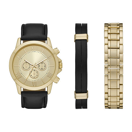 Mixit Mens Gold Tone 3-pc. Watch Boxed Set-Fmdjset537, One Size , No Color Family