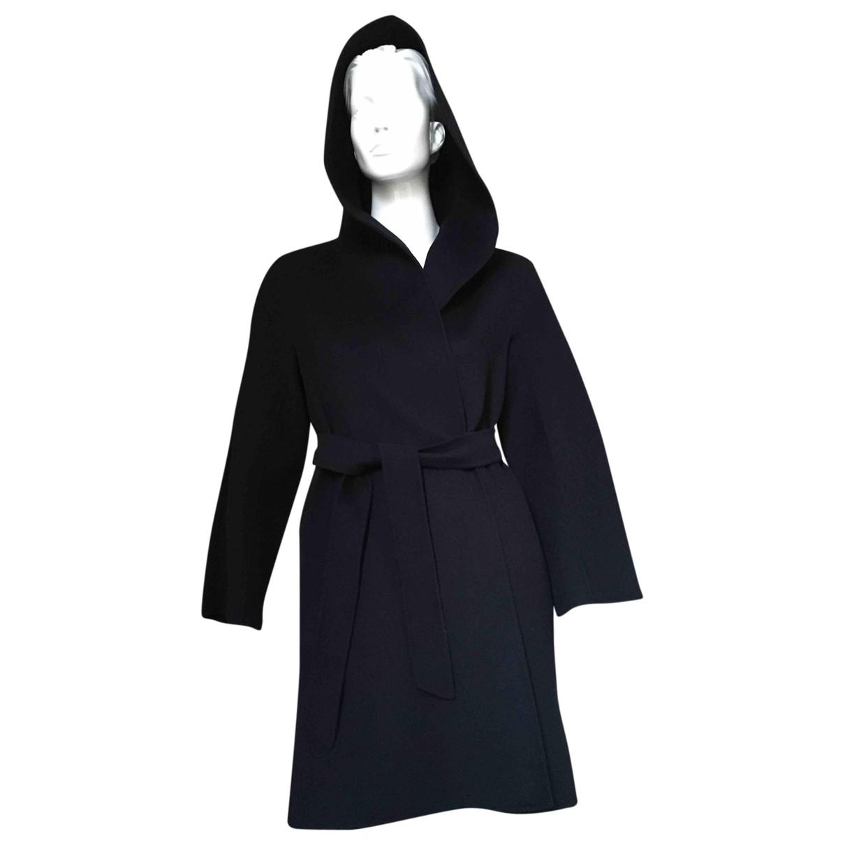 Max Mara Studio \N Blue Wool coat for Women 40 IT